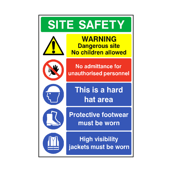 Construction Site Safety Sign | PVCSafetySigns.co.uk