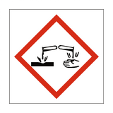 Corrosive COSHH Sign | PVC Safety Signs