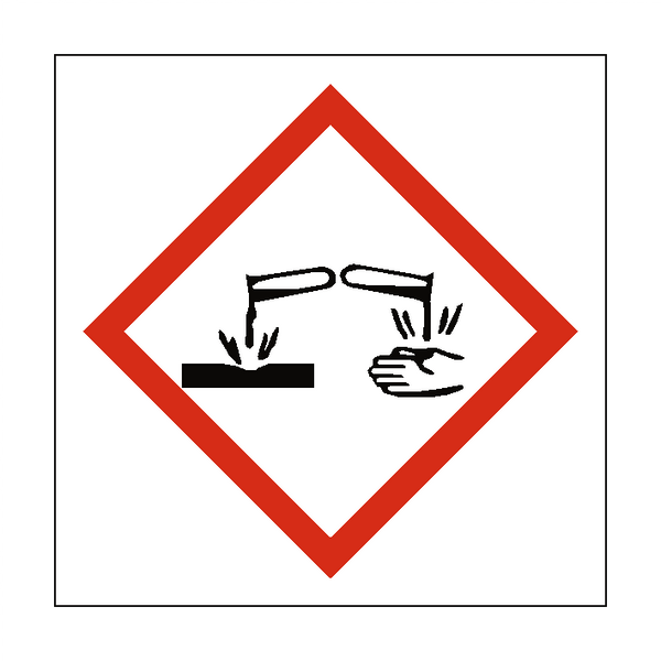 Corrosive COSHH Sign - PVC Safety Signs