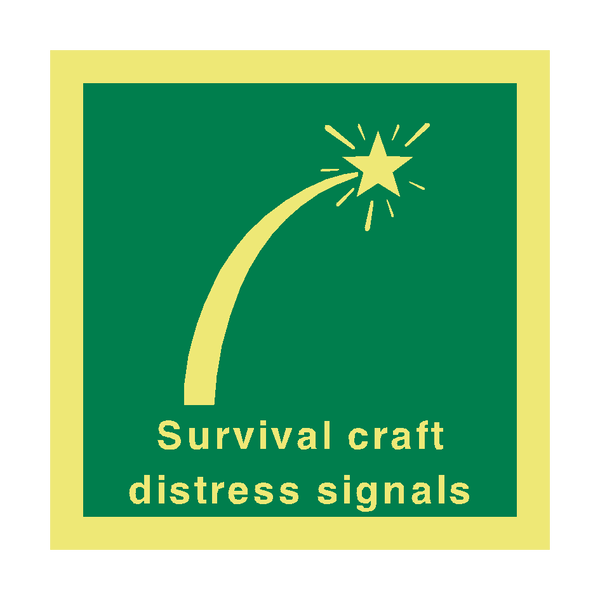 Distress Signal Safety Sign | PVC Safety Signs