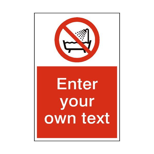 Do Not Use Device Near Water Custom Prohibition Sign | PVC Safety Signs