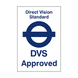 Direct Vision Standard Sticker - PVC Safety Signs