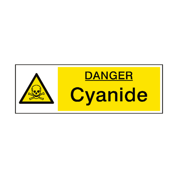 Danger Cyanide Hazard Sign - PVC Safety Signs