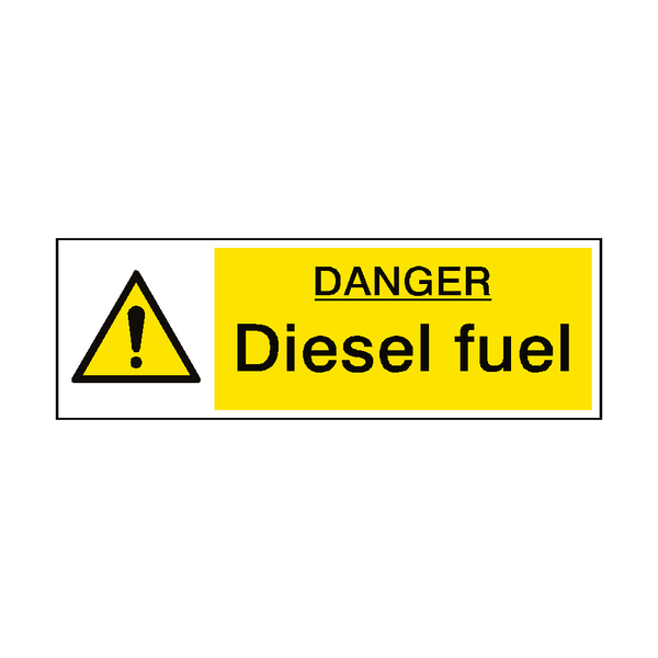 Danger Diesel Fuel Hazard Sign - PVC Safety Signs
