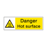Danger Hot Surface Hazard Sign | PVCSafetySigns.co.uk