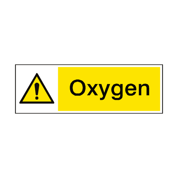 Oxygen Hazard Sign - PVC Safety Signs