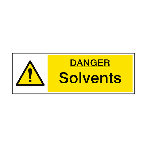 Danger Solvents Hazard Sign | PVC Safety Signs