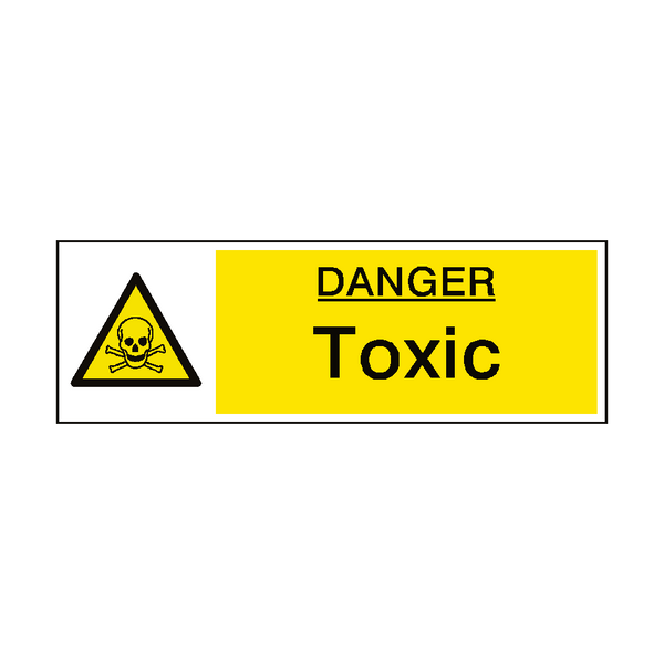 Danger Toxic Hazard Sign - PVC Safety Signs