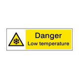 Warning Low Temperature Hazard Sign | PVCSafetySigns.co.uk