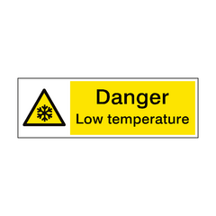 Warning Low Temperature Hazard Sign | PVC Safety Signs | Health and Safety Signs
