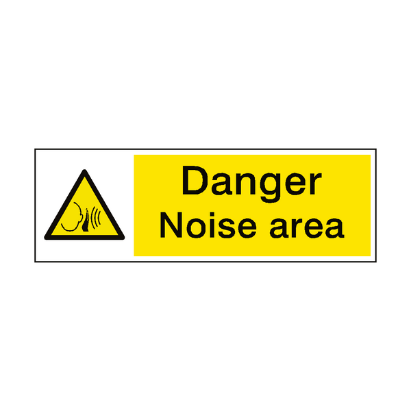 Danger Noise Area Sign | PVC Safety Signs