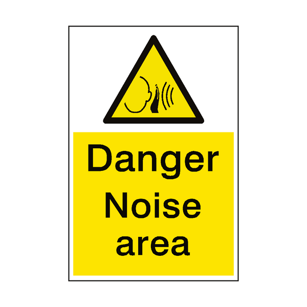 Danger Noise Area Hazard Sign | PVC Safety Signs