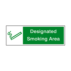 Designated Smoking Area Safety Sign | PVC Safety Signs | Health and Safety Signs