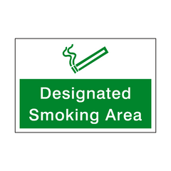 Designated Smoking Area Sign | PVC Safety Signs | Health and Safety Signs