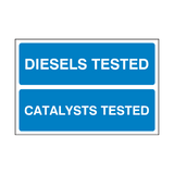 Diesels Catalysts MOT Sign | PVCSafetySigns.co.uk