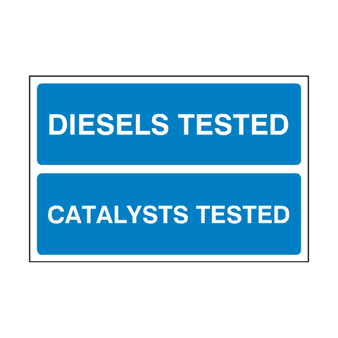 Diesels Catalysts MOT Sign | PVC Safety Signs | Health and Safety Signs
