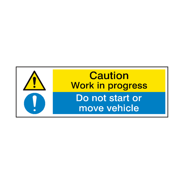 Do Not Move Vehicle Garage Sign - PVC Safety Signs