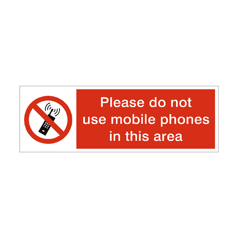 Do Not Use Mobile Phones Safety Sign | PVC Safety Signs | Health and Safety Signs