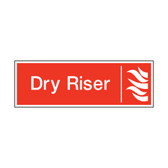 Dry Riser Safety Sign | PVC Safety Signs | Health and Safety Signs