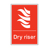 Dry Riser Sign | PVCSafetySigns.co.uk