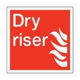 Dry Riser Square Sign | PVCSafetySigns.co.uk