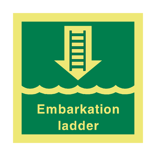 Embark Ladder Safety Sign | PVC Safety Signs
