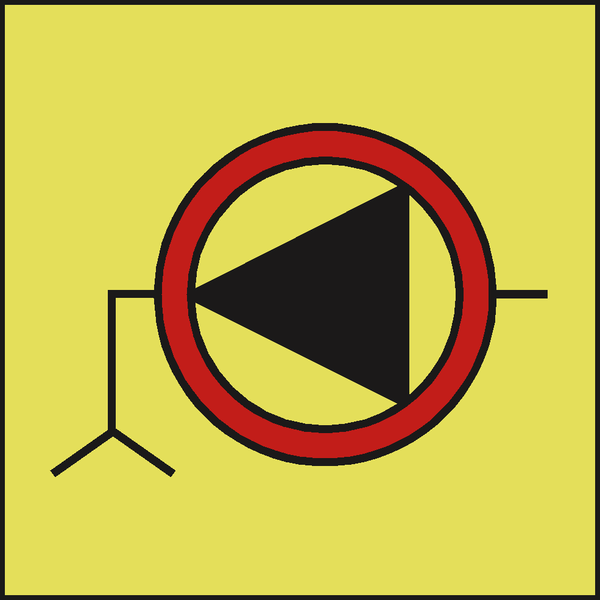 EMERGENCY BILGE PUMP IMO SIGN | PVC Safety Signs