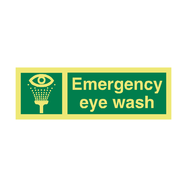 Emergency Eye Wash IMO Sign | PVC Safety Signs