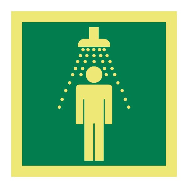 Emergency Shower Symbol Sign | PVC Safety Signs