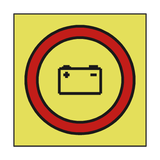 EMERGENCY SOURCE BATTERY POWER SIGN