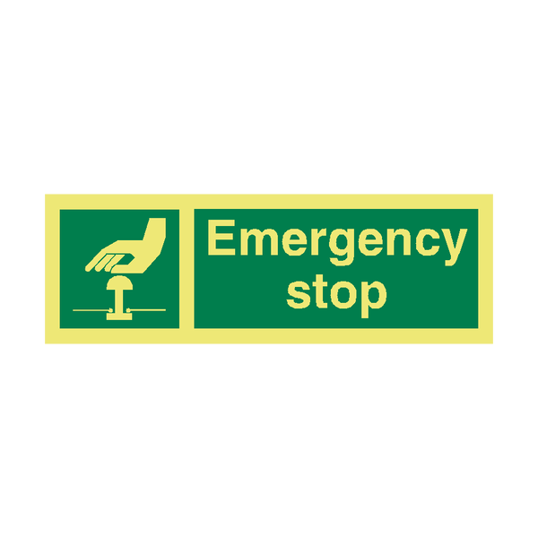 Emergency Stop IMO Sign | PVC Safety Signs