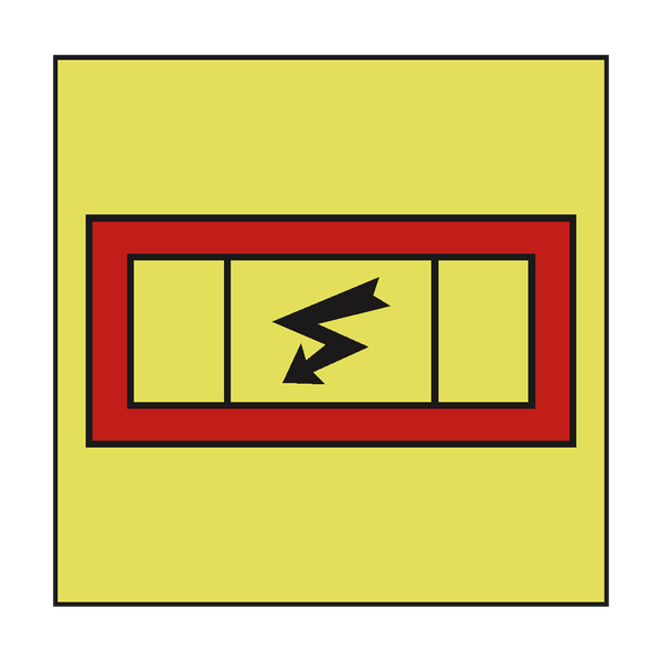 EMERGENCY SWITCHBOARD IMO SIGN | PVC Safety Signs