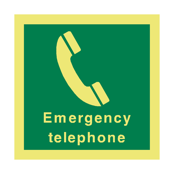 Emergency Telephone Sign | PVC Safety Signs
