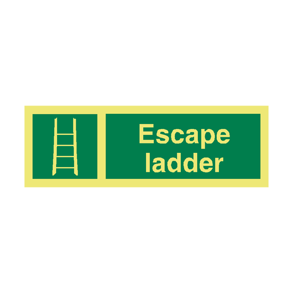 Escape Ladder IMO Safety Sign - PVC Safety Signs