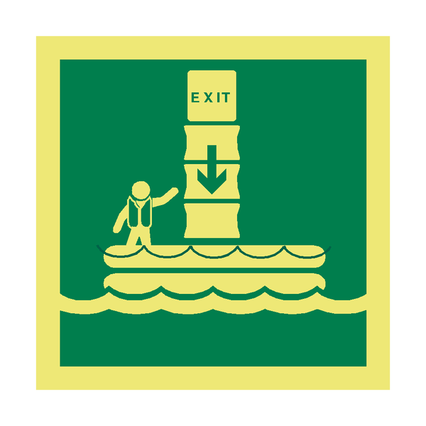 Evacuation Chute Symbol Sign | PVC Safety Signs