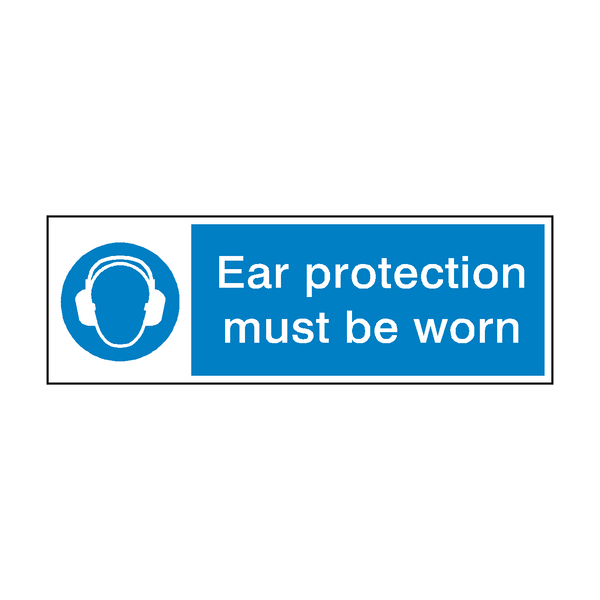 Ear Protection Sign - PVC Safety Signs