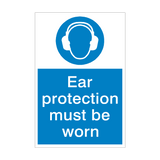 Ear Protection Mandatory Sign - PVC Safety Signs