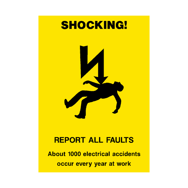 Electrical Safety Poster Pvc Safety Signs