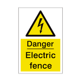 Electric Fence Sign | PVCSafetySigns.co.uk
