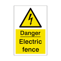 Electric Fence Sign | PVC Safety Signs | Health and Safety Signs