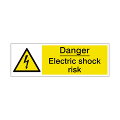 Electric Shock Risk Safety Sign | PVC Safety Signs | Health and Safety Signs