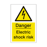 Electric Shock Risk Sign | PVCSafetySigns.co.uk