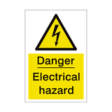 Electrical Hazard Sign | PVCSafetySigns.co.uk