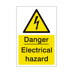 Electrical Hazard Sign | PVC Safety Signs | Health and Safety Signs