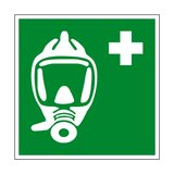 Emergency Breathing Device Symbol Sign - PVC Safety Signs