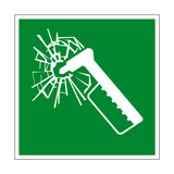 Emergency Hammer Symbol Sign - PVC Safety Signs