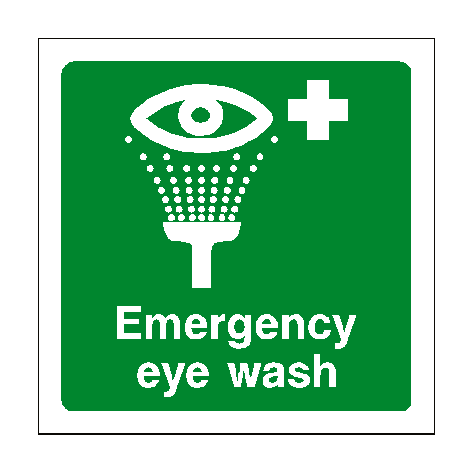 Emergency Eye Wash Sign | PVCSafetySigns.co.uk