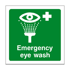 Emergency Eye Wash Sign | PVC Safety Signs | Health and Safety Signs