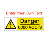 Custom Volts Safety Sign | PVCSafetySigns.co.uk