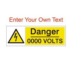 Custom Volts Safety Sign | PVC Safety Signs | Health and Safety Signs